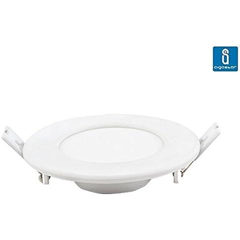 Aigostar - Slim downlight LED de 18 Watios redondo, encastrable de techo, diámetro 220 mm, luz blanco neutro