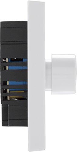 Color Blanco Interruptor de luz de bot/ón Redondo con regulador de Intensidad 2 v/ías BG Electrical Borde Cuadrado 400 vatios