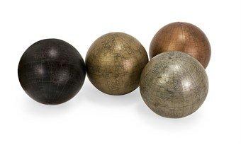 metallic-finish-5-globe-spheres-with-map-set-of-4