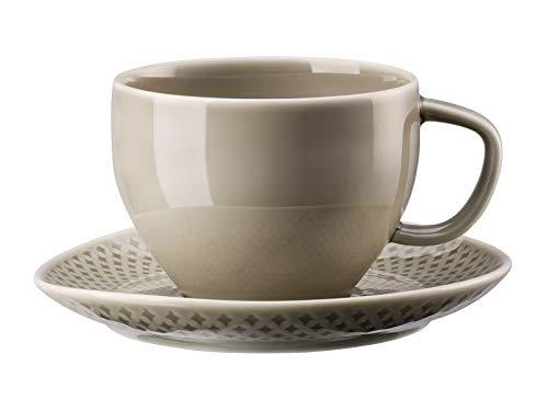 Rosenthal 10540-405201-14770 Junto Pearl Grey Kombitasse 2tlg. (1 Obertasse/1 Untertasse) Tasse Pearl