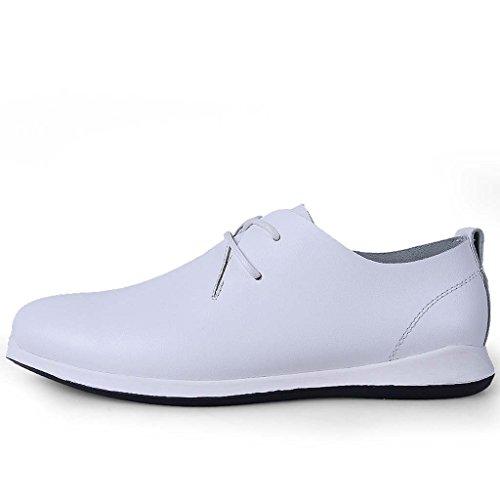 ZXCV Scarpe all'aperto Scarpe da uomo casual scarpe da slittamento traspirante morbido e traspirante scarpe bianche puro Bianca