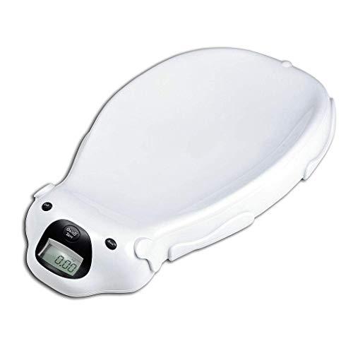Todeco - Babywaage, Elektrische Babywaage - Größe: 65,4 x 33,2 x 11,6 cm - Maximale Belastbarkeit: 20 kg - Weiß