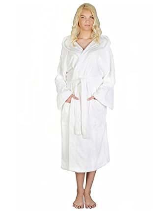 astra peignoir de bain pour femme homme capuche 100 coton en tissu ponge longueur moyenne. Black Bedroom Furniture Sets. Home Design Ideas