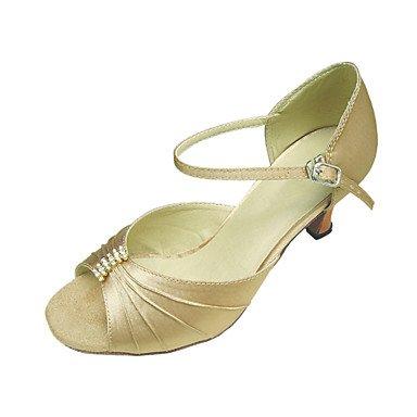 Scarpe da ballo - Non personalizzabile - Donna - Latinoamericano / Salsa / Tipo di scarpe - Stiletto - Satin - Nero / Rosso / Oro , red Black