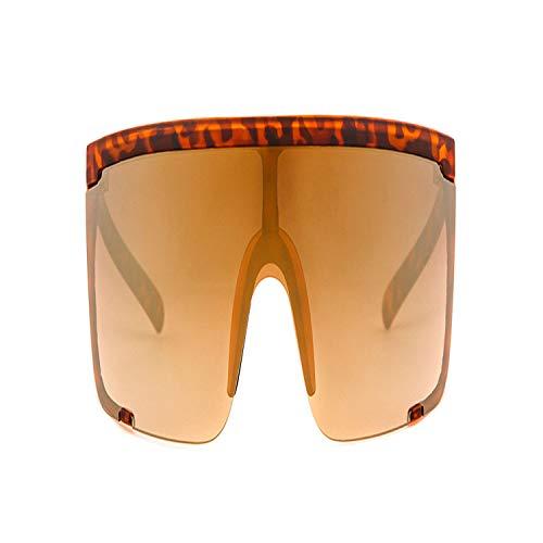 FGRYGF-eyewear2 Sport-Sonnenbrillen, Vintage Sonnenbrillen, NEW Oversize Shield Sunglasses Visor Men Women One Peice Sunny Windproof Mask Sun Glasses Flat Top Hood Goggle OM745 C5 tortoiseshell