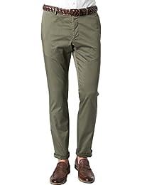 Strellson Premium Herren Hose Jig-D Baumwolle Pant Unifarben, Größe: 52, Farbe: Grün