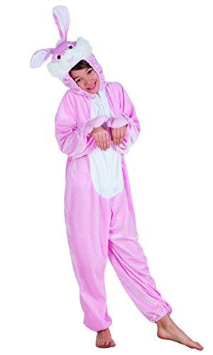 Boland Costume Tuta Peluche Coniglietto per Bambini, Rosa, max 1,40 m 88207