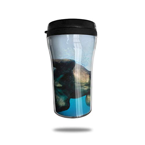 Aislamiento térmico Botellas de Agua Animales Elefantes Imprimir Viaje Taza de café...