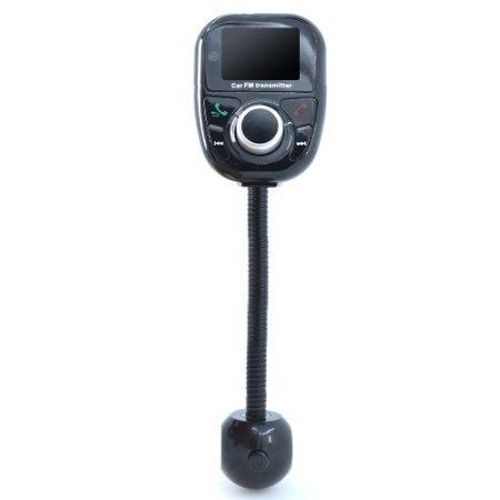 Dland Univeral Bluetooth Wireless-Auto-MP3-Player-FM-Modulator-Radio-Adapter Bluetooth Car Kit mit Freisprechen Music Control Mic (orange LCD Display)