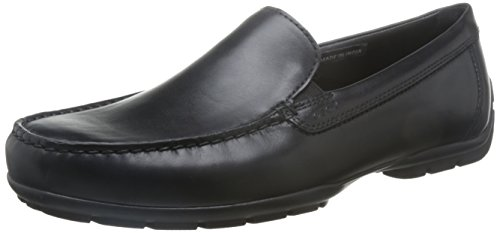 Geox U Moner W 2Fit, Mocasines Hombre, Negro Black