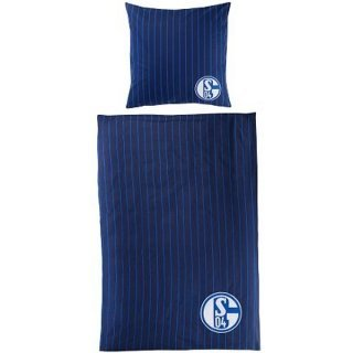 Preisvergleich Produktbild FC Schalke 04 Bettwäsche Stripes by FC Schalke 04