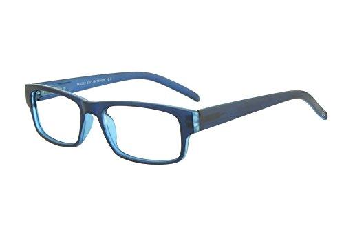 Moderne Lesebrille - mit matt-transparenter Fassung - in verschiedenen Farben und Stärken (Blau, +3,00 dpt)