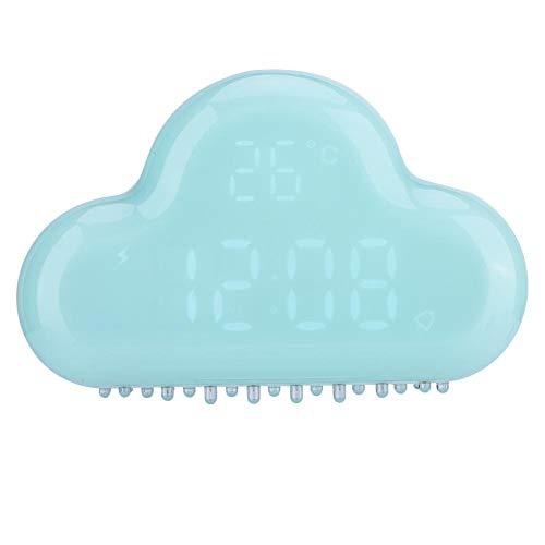Eboxer Despertador Digital de Forma Nube, Despertador Eléctrico LED con Función de Fecha/Temperatura / Alarma/Repetición, Imán Fuerte en la Parte Posterior, para Regalos y Decoraciones(Azul)