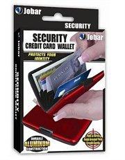 Walterdrake Red Aluminium Credit Card Holder