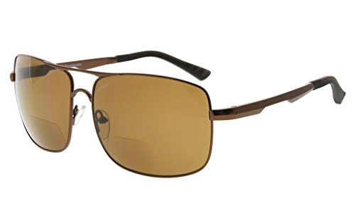 Eyekepper Polycarbonat Polarisierte Bifokale Sonnenbrillen Bifocal Sonnenscheinleser Outdoor Polarisierte Lesebrillen (Braun, 2.50)