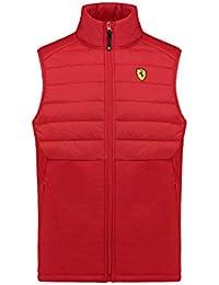 e6de7e943ae9 Ferrari 2018 Scuderia pour Homme Veste sans Manches rembourrée Gilet Tailles