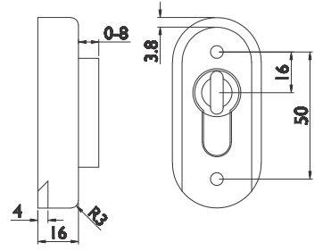 Schutzrosette Schutzrosette Oval