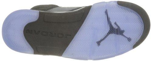 Nike  Air Jordan 5 Retro, Herren Sneaker schwarz Black (Schwarz / Grau-Weiß)