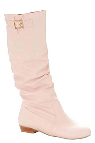 Neu Weise wilden Ritter Stiefel Stiefel flache Damen schuhe Rosa