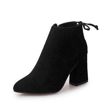 Ch & Tou Femmes-bottines-casual-confortable-carré-cuir-noir Jaune Jaune
