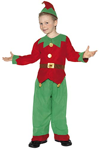 Smiffys Kostüm Kobold Grün mit Tunika Hose und Hut , Small