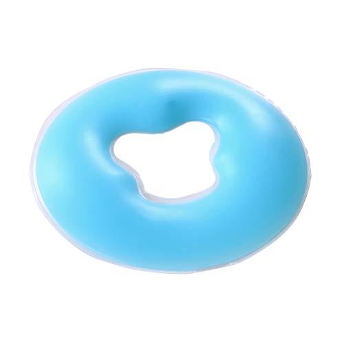 Healifty Gesichtsauflage Silikon Nasenschlitztücher Gesichtskissen Massage Kissen für die Therapielege (Blau)