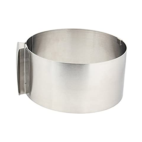 Vzer Stainless Steel 16 to 26cm Adjustable Size Mousse Ring expandable Cake Ring Baking tool