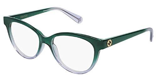 Gucci Damen Brillengestell Grün Verde Viola 52