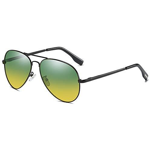 BlueAurora Polarisierte Nachtsicht-Sonnenbrille, Tag- und Nachtfahrbrille für Herren