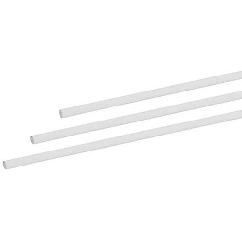 elliot 1013015 Gfk-Vollstab, 4 mm, 200 cm weiß