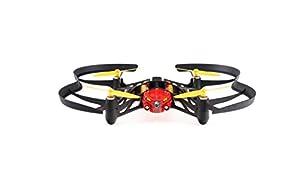 Parrot Airborne Night Blaze - Dron cuadricóptero (Luces LED, cámara vertical 30 FPS, 18 Km/h, 9 minutos de vuelo, 20 metros de alcance, programable), color rojo