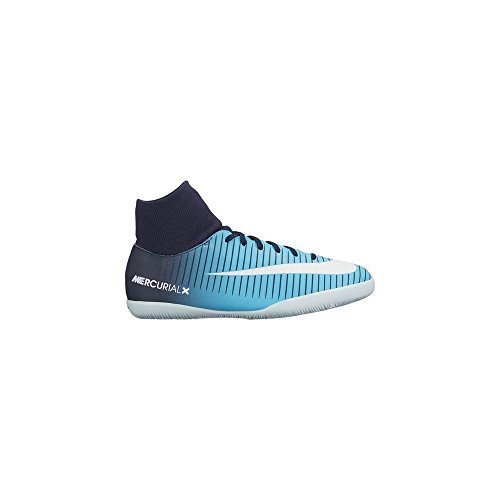 Nike Football Boots mercurialx Victory VI Blue with CALCETIN Sole Lisa Child