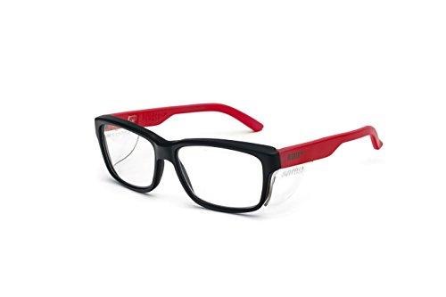 Pegaso 125.89.030 - Gafas contra impactó con lentes pre graduadas, Multicolor (Negro/Rojo), +3.0, L