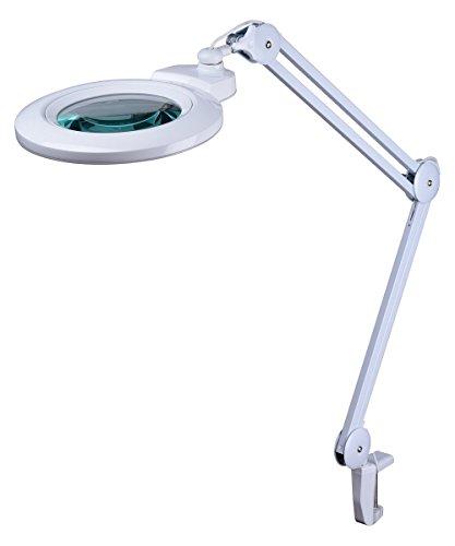 Komerci 12W LED Lupenleuchte Lupenlampe 150mm Wechsel-Glaslinse 5 Dioptrien KML-9006LED