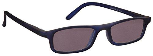 Die Lesebrille Unternehmen Mattes Marineblau Leicht Komfortables Sonnen-Leser UV400 Herren Damen Federscharniere S17-3 +1,50