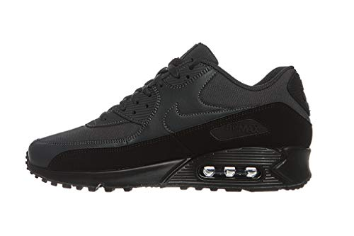 new style 80c04 8c390 Nike Air MAX 90 Essential, Zapatillas de Running para Hombre, (Black  Midnight