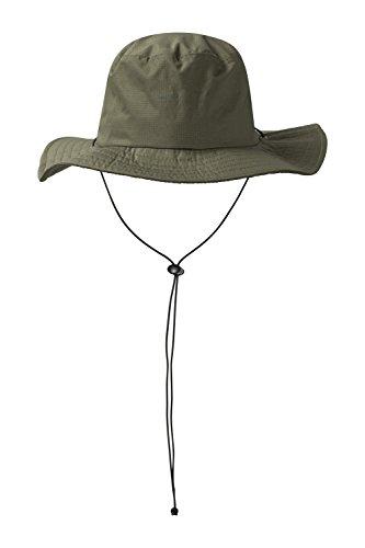 Mountain Warehouse Australischer Wasserfester Hut mit breiter Krempe - LSF50+, Schweißband, versiegelte Nähte - Herren und Damen - Für Bergwandern, Camping, Reisen Khaki