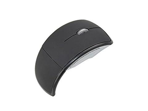 Noir sans fil Bluetooth pliable Mouse 2,4GHz optique 1200dpi Petite Clé USB pour ordinateur portable PC ultrabook Jeu de travail en