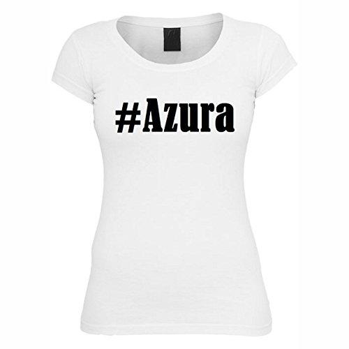 T-Shirt #Azura Hashtag Raute für Damen Herren und Kinder ... in den Farben Schwarz und Weiss Weiß