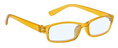 4sold Slim Damen Herren Lesebrille +0.50 +0.75 +1.0 +1.5 +2.0 +2.5 Optik Blaufilterbrille Blaues Licht und UV Schutzbrille Bildschirmbrille fortgeschrittene Gamer Gamingbrille Computerbrille