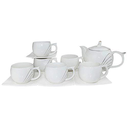 ufengke-ts Porcelain Ceramic Coffee Set Tea Set Tea Service, 13 Pieces