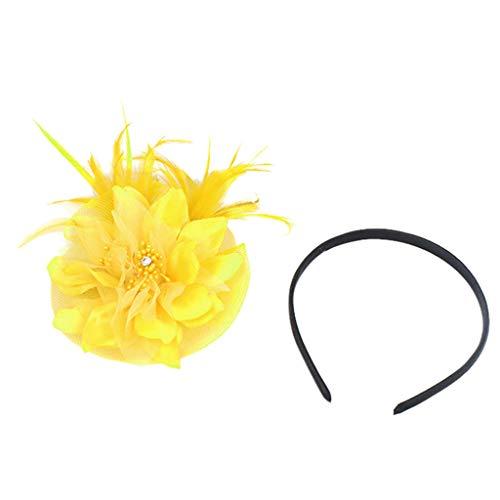 ➤Refill➤Haarreife & Stirnbänder, Haarspangen & -Clips,Fascinators Hut Damen Tea Party Stirnband Hochzeit Cocktail Blume Haarspange Derby Headwear -