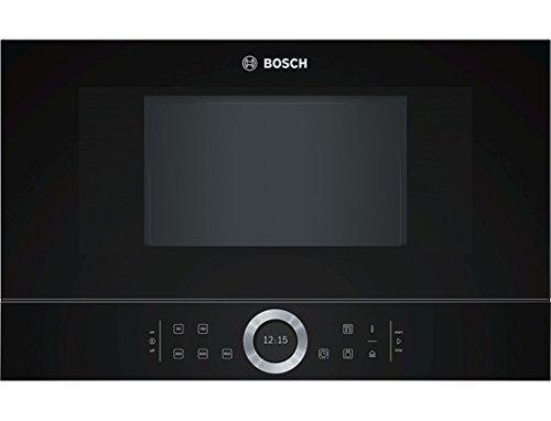Bosch BFR634GB1 Serie 8 Einbau-Mikrowelle / 900 W / 21 l / Türanschlag Rechts / 7 voreingestellte Automatikprogramme / automatische Leistungsstufe nach Gewicht / Schwarz