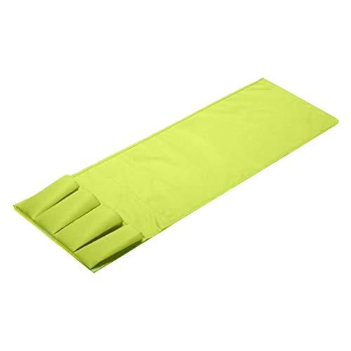 Yardwe Sofa Organizer Tasche Stoff Fernbedienung Handset Caddy Halter für Schreibtisch Stuhl Liege Armlehne 4 Taschen (Grün) 4 Handsets