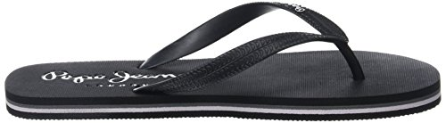 Pepe Jeans London Herren Swimming 2.0 Zehentrenner Schwarz (Black)