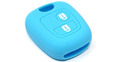 Guscio in silicone cover chiave per telecomando vari colori idea regalo (azzurro)