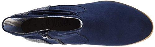 s.Oliver Damen 25304 Kurzschaft Stiefel Blau (NAVY COMB. 891)