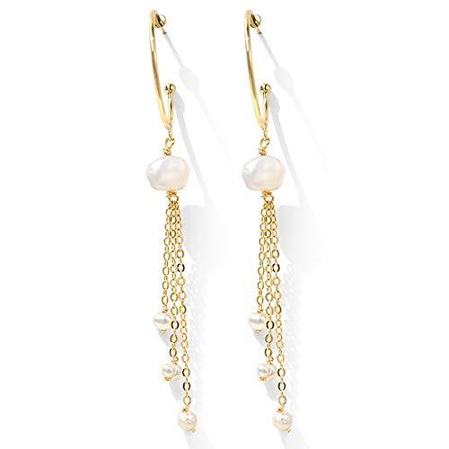 AILOVEIA Quaste Süßwasser Perle Ohrringe Für Frauen Einfache Online Promi Ohrring Modeschmuck Ohrringe Zubehör