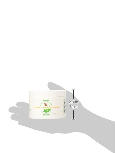 100% Natural Psoriasis Treatment Moisturizer Skin Cream By Wild Naturals - With Manuka Honey and Aloe Vera - For Psoriasis Eczema Dermatitis Acne & Rosacea - Very Light Non-greasy Absorbs Quickly - All the Nutrients Your Skin Needs - For All Skin Types - Relieves Dry Red Irritated Itchy & Cracked Skin - Antiviral - Restores Skin's Natural Moisture Balance - Satisfaction Guaran
