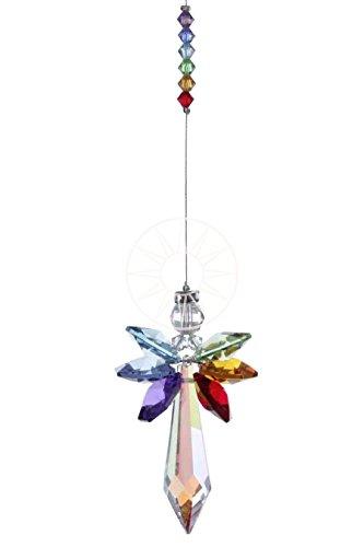 Angelo guardiano chakra di cristallo pendente di perline swarovski, acchiappasole, crea arcobaleni